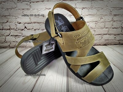 Мужские кожаные шлепанцы /сандалии