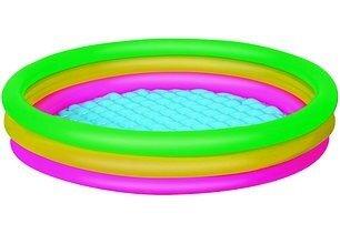 Детский надувной бассейн надувное дно bestway 51104 102-25см 62 литров