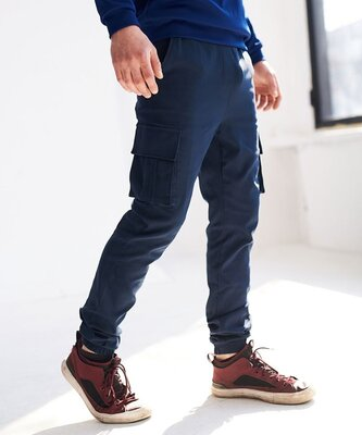 Штаны мужские карго на манжетах цвет темно синий