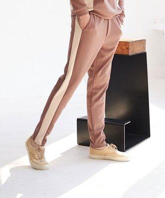 Спортивные штаны мужские прямой крой темно бежевые