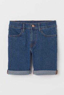 H&М джинсовые шорты slim fit 134 и 152 см