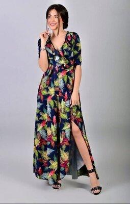 Распродажа Стильное летнее платье на запах. Платье в пол. Разные расцветки. Платье длинное
