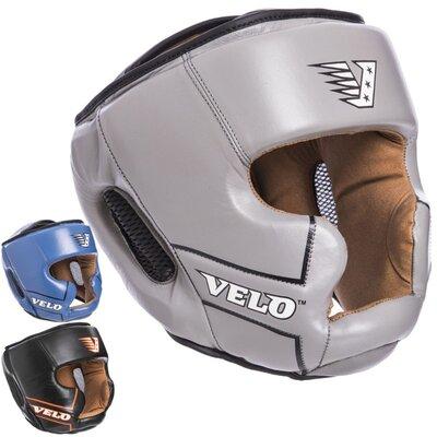 Шлем боксерский с полной защитой кожаный Velo 2219 размер М-Xl 3 цвета