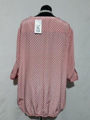 Яркая, воздушная блуза известной фирмы bexleys , низ слегка присобран легкой резинкой