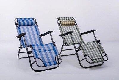 Кресло-Шезлонг раскладное, пляжное, садовое 153 60 80см MH-3913