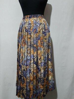Трендовая яркая юбка плиссе, высокая посадка, пояс на резинке C&A