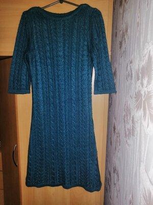 Вязаное платье, вязаное платье длины миди, в'язане плаття