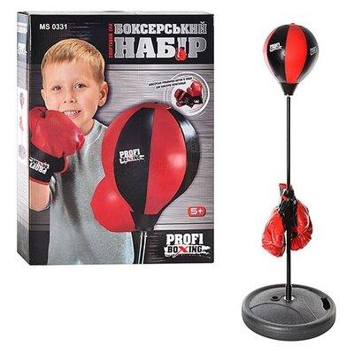 Детский боксерский набор на стойке груша напольная с перчатками для детей диаметр 20 см