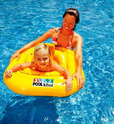 Продано: Надувной круг плотик с трусиками Intex 56587 Учимся плавать, 79х79 см