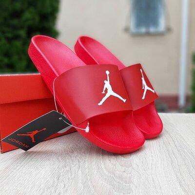 Шлепанцы мужские Jordan красные