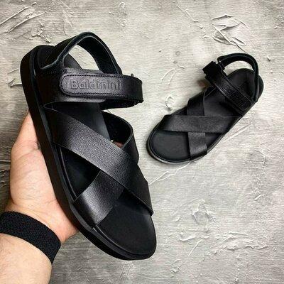 Кожаные мужские сандалии босоножки шлепки шлепанцы летние открытые стильные модные