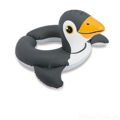 Детский надувной плавательный круг для плавания игрушка пингвин Intex 70х69см