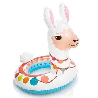 Детский надувной плавательный круг для плавания игрушка лама Intex 58221 86 58см