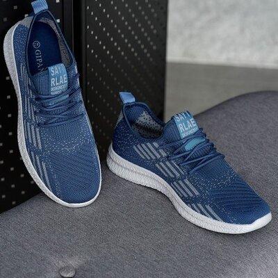 Мужские кроссовки летние синие Нс-941сн