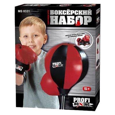 Детский боксерский набор Profi Boxing MS 0331 груша 20см, стойка 90-110см, 2перчатки