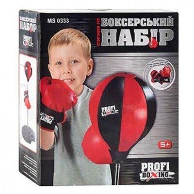 Детский боксерский набор Profi Boxing MS 0333 груша 23см, стойка 90-130см, 2перчатки