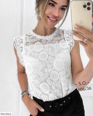 Гипюровая блуза 4цвета