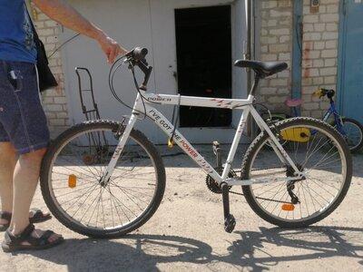 Велосипед белый