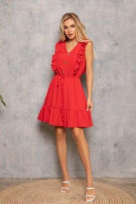 Платье с рюшами выбор цвета