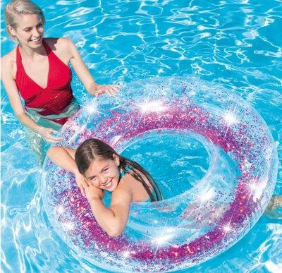 Продано: Надувной круг для плавания Intex 56274 Прозрачный блеск, 119 см