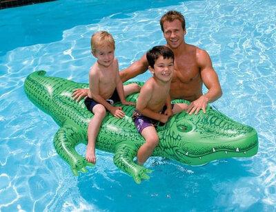 Продано: Детский надувной плотик матрас Intex 58562 Крокодил, 203х114 см