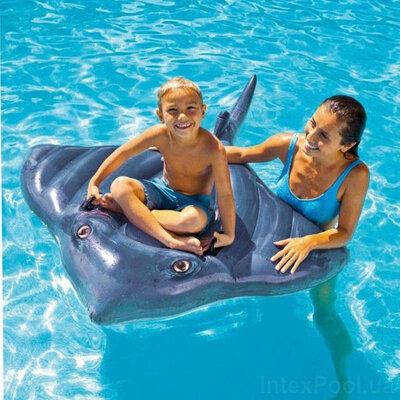 Продано: Детский надувной плотик Intex 57550 Скат, 145x188 см