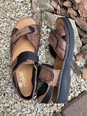 Продано: Фирменные кожаные удобные сандалии босоножки rieker германия 40р.