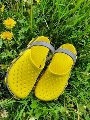Желтые кроксы сабо унисекс
