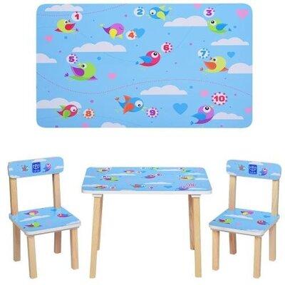 детский стол и 2 стула 501 птички