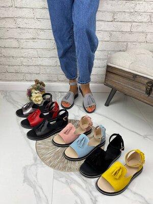 Босоножки сандалии нарядные женские натуральная кожа замш кожаные чёрные голубые пудра
