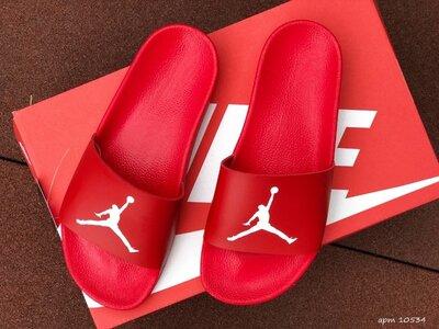 Nike Air Jordan шлёпанцы мужские на лето красные 10534