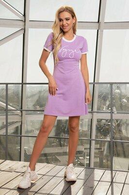 Трикотажное спортивное платье, цвета
