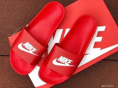 Nike шлёпанцы мужские красные 10537