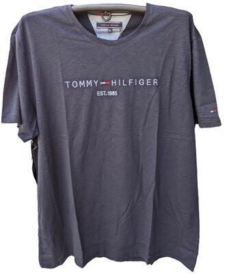 Мужская футболка tommy hilfiger синяя, 4xl, 5xl, 6xl