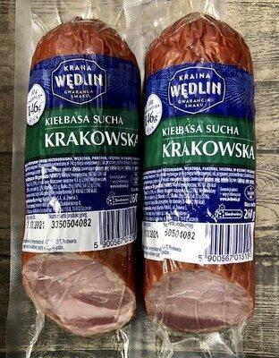 Колбаса из ветчины Краковская Kiełbasa Krakowska Wedlin, 260 g Польша