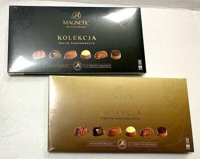 Шоколадные конфеты в коробке в ассортименте Magnetic 300g Германия 12 видов конфет
