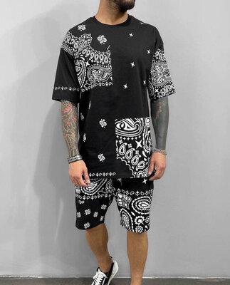 Летний мужской костюм футболка шорты «Накат» лето 2021