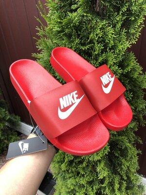 Шлепанцы мужские Nike, красные