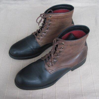 Yves 44 кожаные деми ботинки мужские
