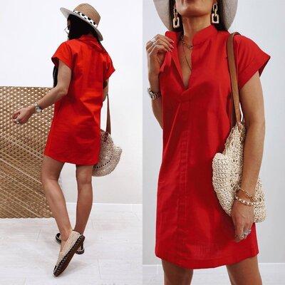 Женское льняное платье летнее Avrora