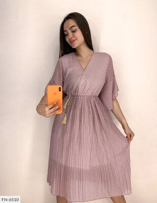 Платье FN-6524 Размер 42-46 . Рукав 52 см Длина платья 109 см Длина подкладки 90 см Ши