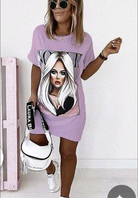 футболка-платье