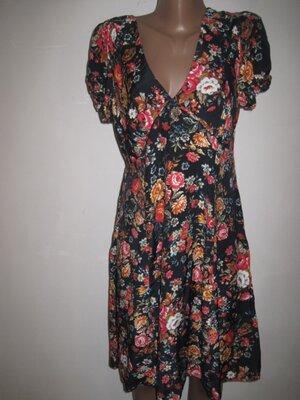Вискозное платье цветочный принт Дороти Перкинс р-р16