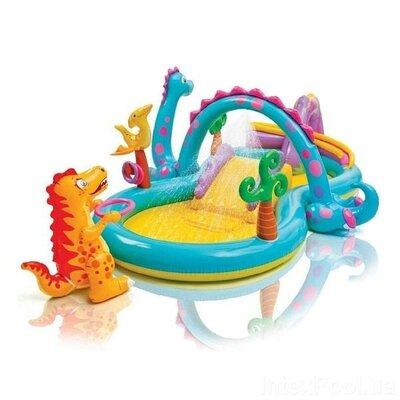 Детский водный игровой центр. Детский бассейн Планета динозавров Intex 57135 333-229-112 см.
