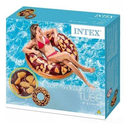 Продано: Круг INTEX Пончик, 114 см, пончик в глазури, надувной круг.
