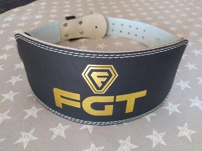 Атлетический пояс FGT широкий, PU, размер L, XL черный