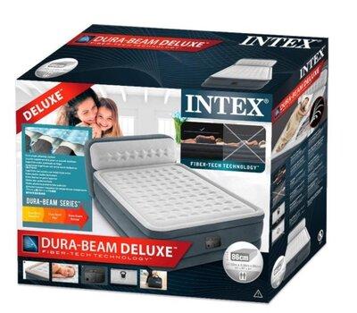 Надувная кровать Intex 64448, встроенный электронасос. Двухспальная 152 х 236 х 86