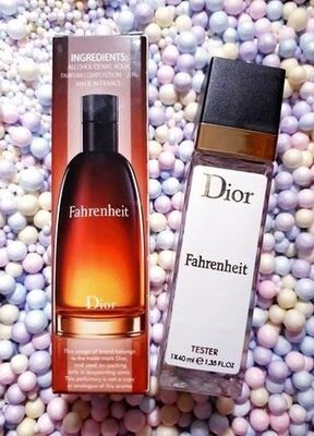 Fahrenheit тестер 40мл, мужской парфюм, духи, туалетная вода, парфуми