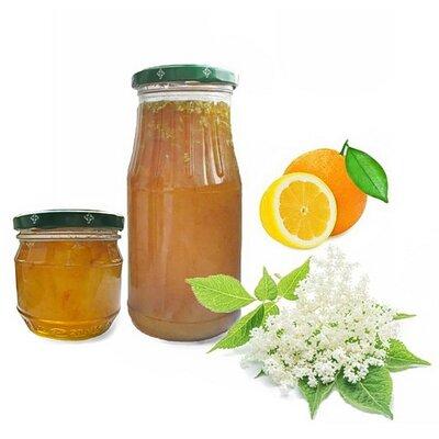 Варенье из соцветий бузины с апельсином и лимоном домашняя консервация варення з квітів бузини