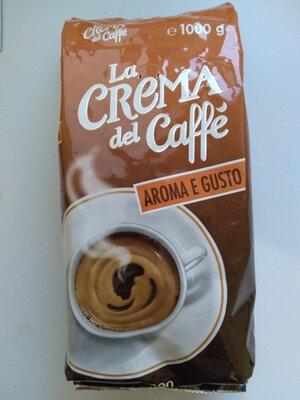 Итальянский кофе в зернах La crema del Caffe Aroma e gusto 1кг